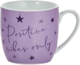 Slogan-Mug-Positive-Vibes-Only on sale