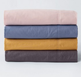 40-off-White-Home-Washed-Cotton-Sheet-Set on sale