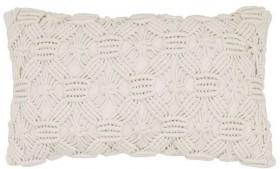NEW-Ombre-Home-Weathered-Coastal-Macrame-Cushion-30x50cm on sale