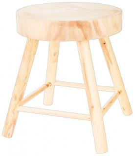 NEW-Ombre-Home-Weathered-Coastal-Wooden-Stool-37x45cm on sale