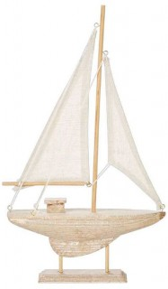 NEW-Ombre-Home-Weathered-Coastal-Deco-Boat-18x30cm on sale
