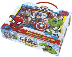 Marvel-Superheroes-Book-and-Floor-Puzzle on sale