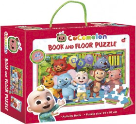 Cocomelon-Book-and-Floor-Puzzle on sale