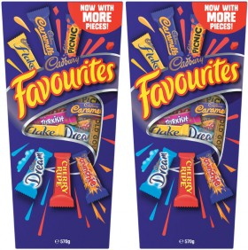 Cadbury-Favourites-570g on sale