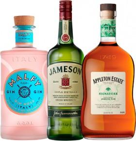 Malfy-Gin-Range-700ml-Jameson-Irish-Whiskey-1L-or-Appleton-Estate-Signature-Blend-Rum-1L on sale