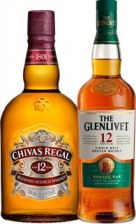 Chivas-Regal-12yo-Scotch-Whisky-1L-or-The-Glenlivet-12yo-Single-Malt-Whisky-700ml on sale