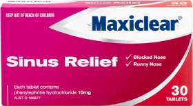 Maxiclear-Sinus-Relief-30-Tablets on sale
