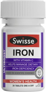 Swisse-Ultiboost-Iron-With-Vitamin-C-30-Tablets on sale