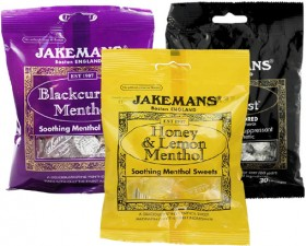Jakemans-Soothing-Menthol-Sweets-100g on sale