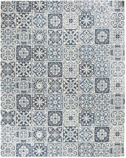 Carrelage-Blue-Tile-Hand-Blocked-Rug-240-x-300cm on sale